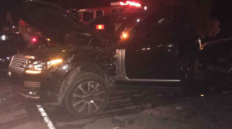 8 Car After Head On Collision